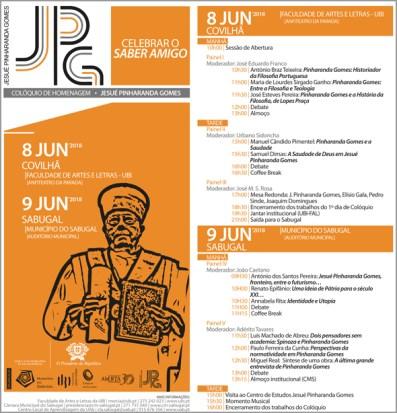 Programa do Colóquio na UBI - Adérito Tavares - Capeia Arraiana