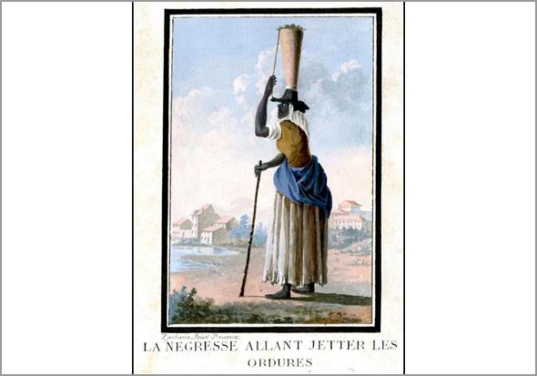 Uma calhandreira. Gravura francesa do final do século XVIII - Adérito Tavares - Capeia Arraiana
