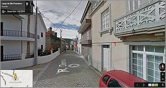 Rua Direita do Casteleiro (Foto: Viver Casteleiro) - Capeia Arraiana