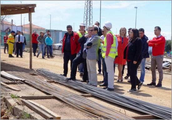 Executivo Municipal visita obras do novo Quartel dos Bombeiros do Sabugal (Foto: C.M. Sabugal) - Capeia Arraiana