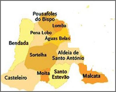 Mapa Capeia Arraiana Sabugal Guarda Portugal