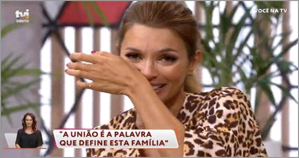 Maria Cerqueira Gomes chora no programa Você na Tv (ver nota nº 15)