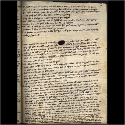 Página nº 33 do Livro II das Inquirições do rei D. Dinis, referente à Freguesia de Águas Belas - Sabugal