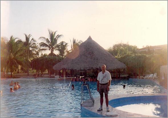 Franklim no hotel Los Corales