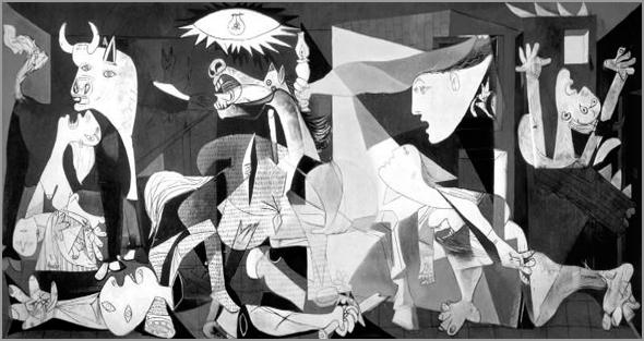 «Guernica», Pablo Picasso (junho de 1937), Museu Rainha Sofia Madrid