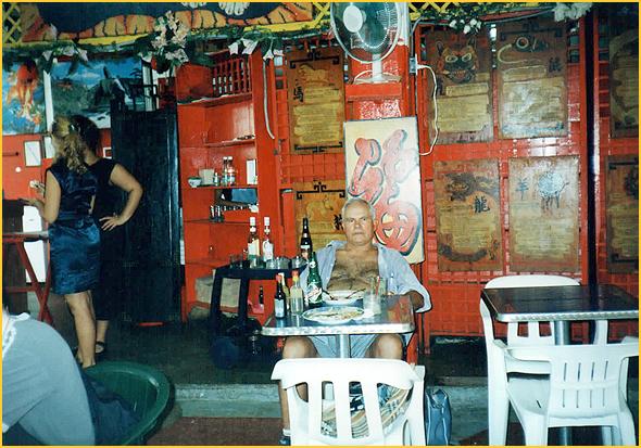 Franklim no restaurante chinês na Habana Vieja