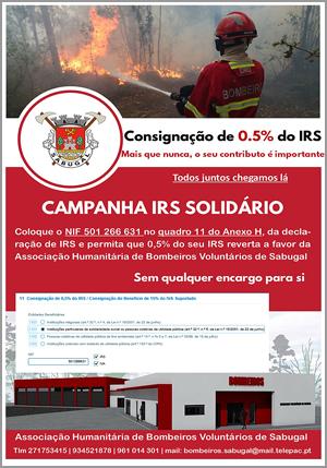 IRS 2020 para Bombeiros Voluntários Sabugal