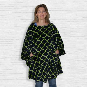 Hospital Gift Warm Fleece Poncho Cape