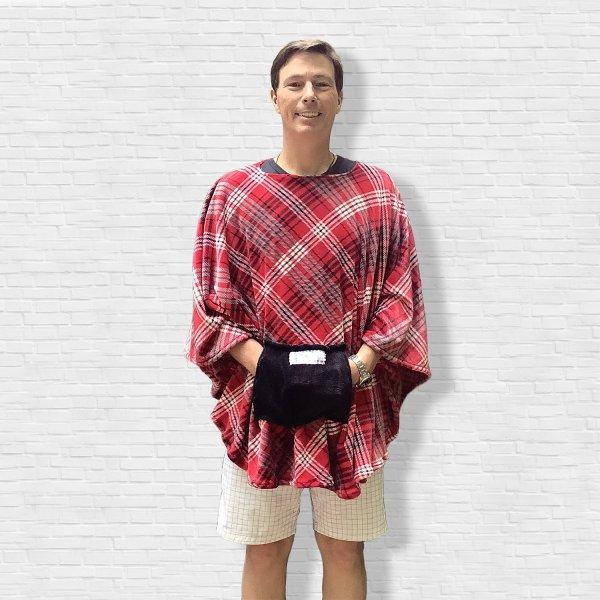Adult Hospital Gift Fleece poncho Cape Ivy