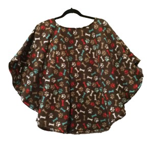 Kids Warm Fleece Poncho Cape