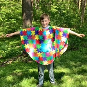 Child Fleece Poncho Cape