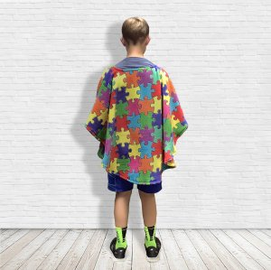 Children's Warm Fleece Poncho