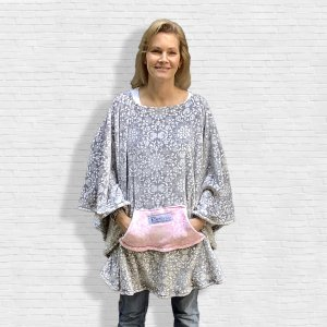 Hospital Gift Women's Fleece Poncho Cape