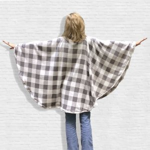 Hospital Gift Fleece Poncho Cape