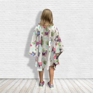 Child Fleece Poncho Cape