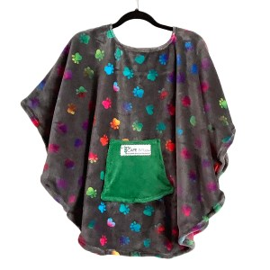 Minky Fleece Poncho Cape