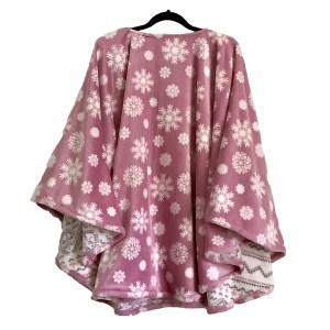 Warm Minky Fleece Poncho Cape