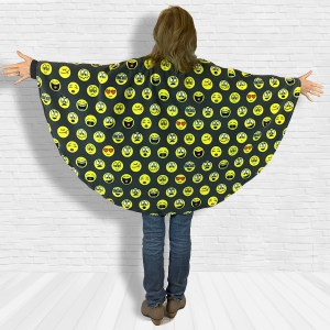 Teen Adult Hospital Cape Ivy Emojis on Gray