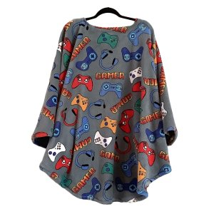Fleece poncho for Teens and Men