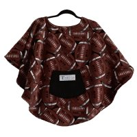 Child Hospital Gift Fleece Poncho Cape Ivy Football