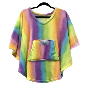 Child Hospital Gift Poncho Cape Ivy Rainbow