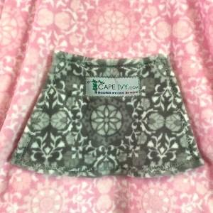 Hospital gift fleece poncho with pocket