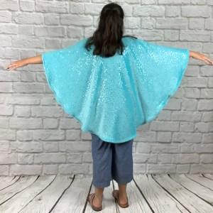 Child Hospital Gift Fleece Poncho Cape Ivy Twinkling Star Aqua