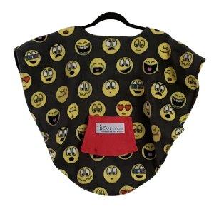 Toddler Hospital Gift Fleece Poncho Emojis