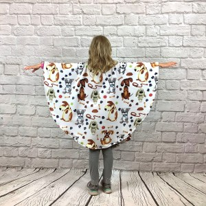 Child Hospital Gift Fleece Poncho Cape Ivy Dog Days