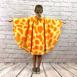 Child Hospital Gift Fleece Poncho Cape Ivy Giraffe