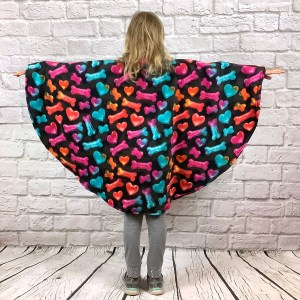 Child Hospital Gift Fleece Poncho Cape Ivy Puppy