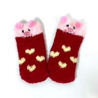 Toddler fluffy non-slip gripper socks Cape Ivy Pigs