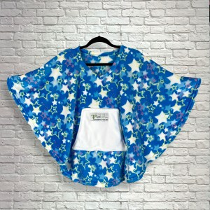 Child Hospital Gift Fleece Poncho Cape Ivy Blue Starry Night