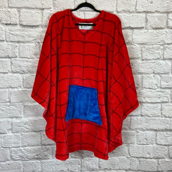 Teen Adult Hospital Gift Fleece Poncho Cape Ivy Spider