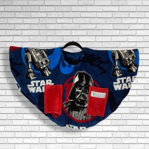 Child Hospital Gift Fleece Poncho Cape Ivy Star Wars™ Darth Vader