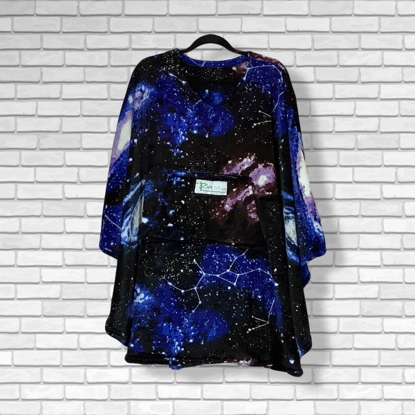 Teen Adult Hospital Gift Fleece Poncho Cape Ivy Constellations in a Night Sky
