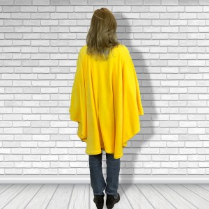 Teen Adult Hospital Gift Fleece Poncho Cape Ivy Smiley Face