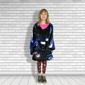 Child Hospital Gift Fleece Poncho Cape Ivy Constellations
