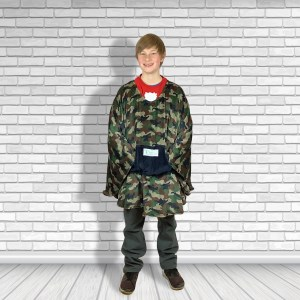 Teen or Adult Hospital Gift Fleece Poncho Cape Ivy Camouflage