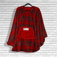 Teen Adult Hospital Cape Ivy Red Stewart Plaid