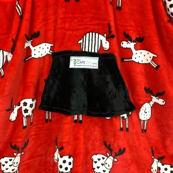 Teen Adult Hospital Gift Fleece Poncho Cape Ivy Many Moose