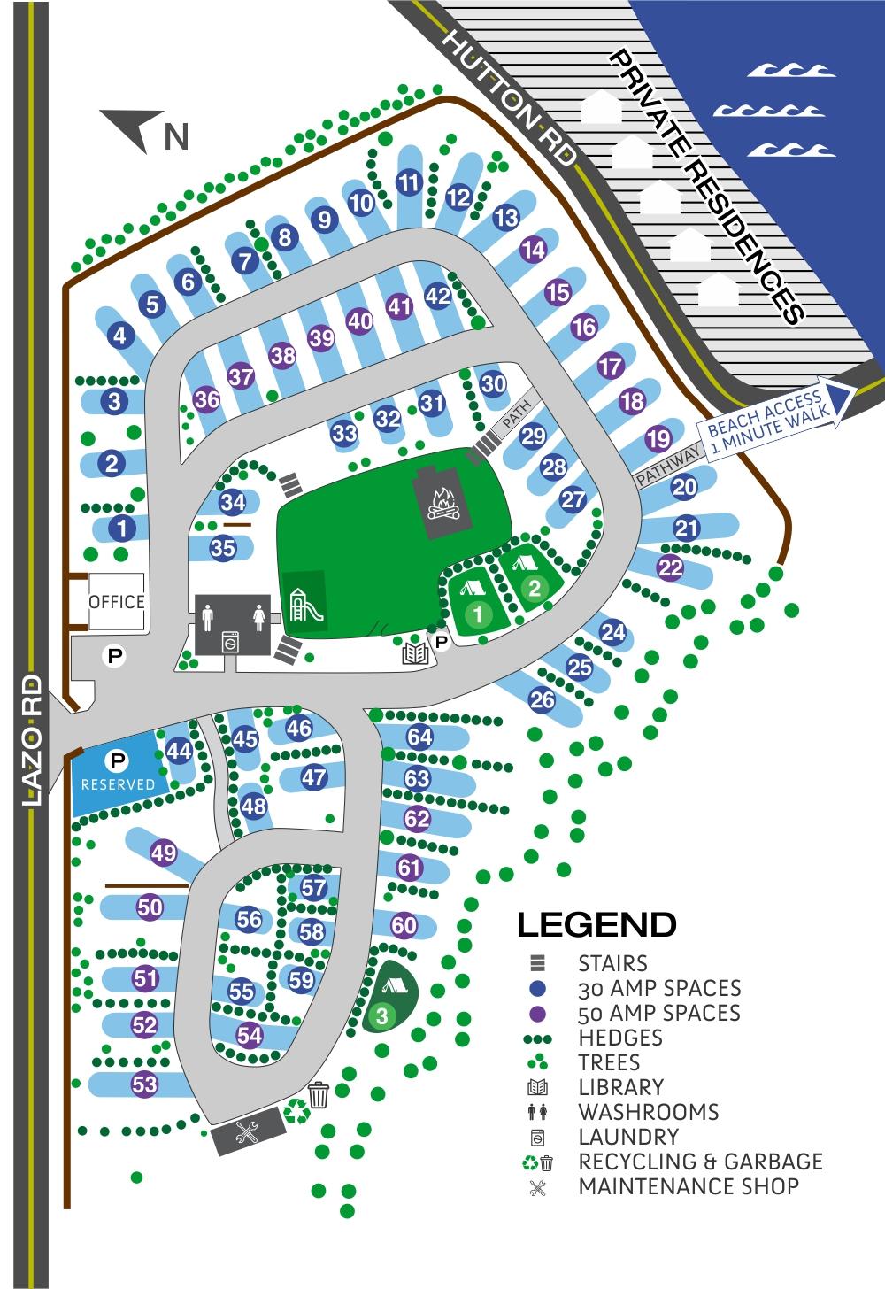 Cape Lazo Site Map 2020