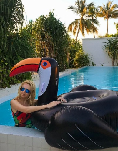 Yana Rudkovskaya Gave The Family Paradise Vacation