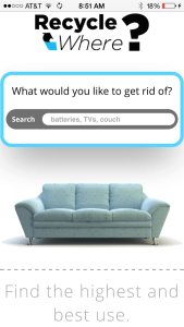 RecycleWhere - New Homepage Mobile