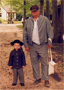 Mikey Snyder with grandfather J.L. Snyder