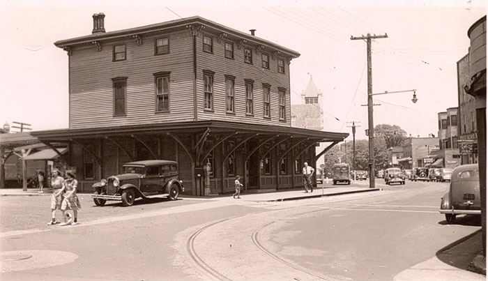Cape May's former train station was located at Ocean and Washington Streets. After the train station was torn down, a parking lot remained there until the Washington Commons shopping area was built.