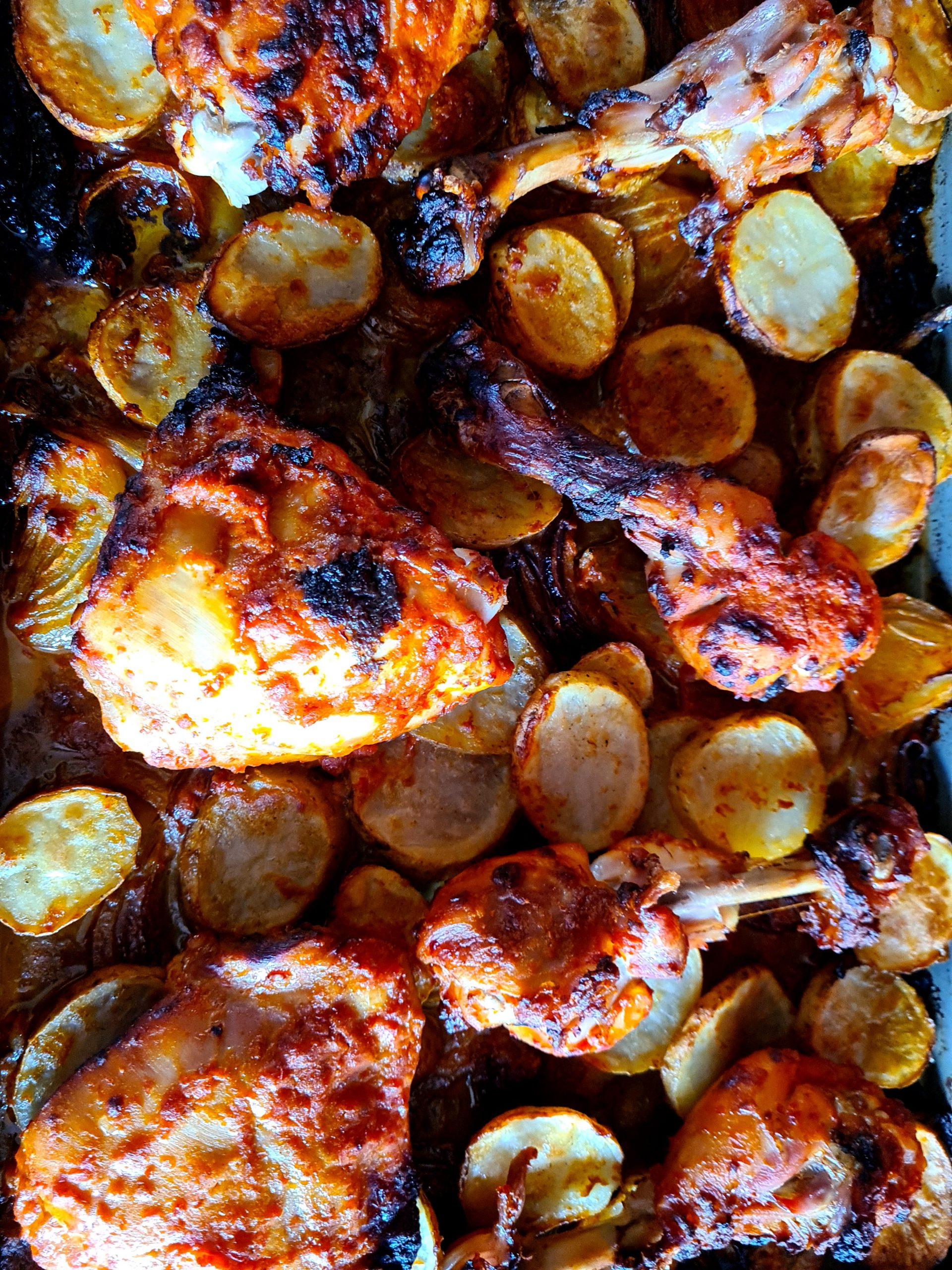 Red Hot Chicken & Potato Traybake
