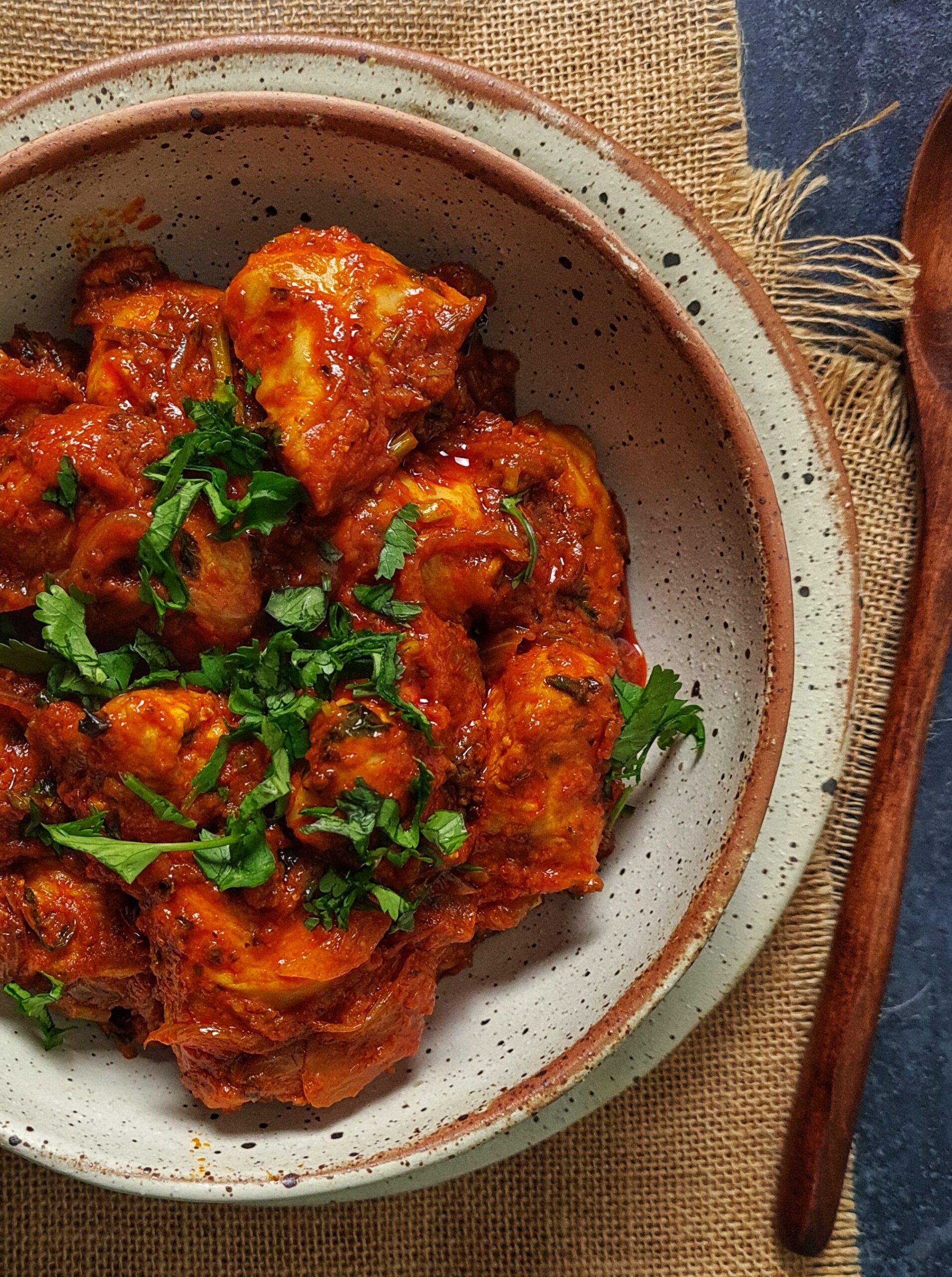 Coriander & Red Chilli Chicken Fry