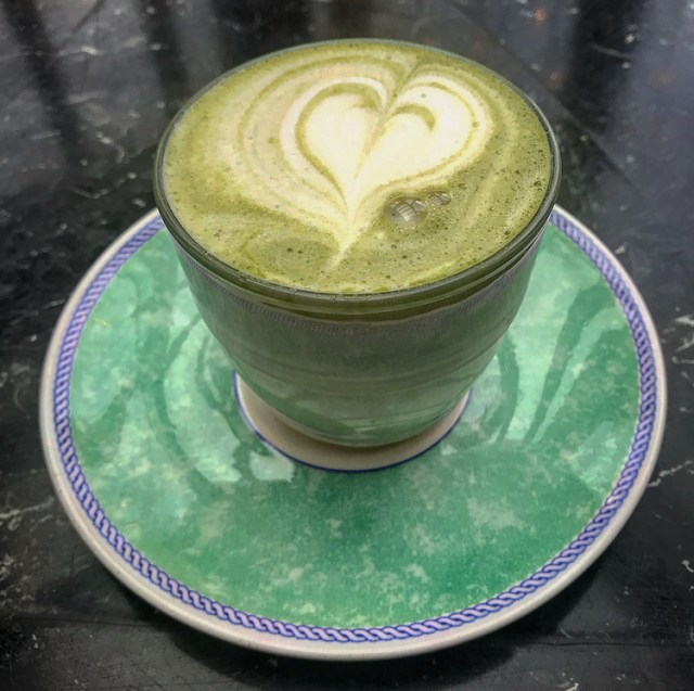 cape town vegan london the gallery cafe matcha latte