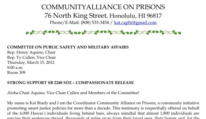 How To Testify – Community Alliance On Prisons